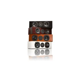 """Mite-T Center Channel Speaker with Dual 5 1/2"""" Drivers - Each (Mahogany)"""