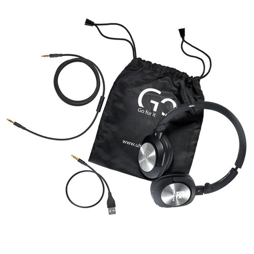View Larger Image of Go Bluetooth On-Ear Headphones with Mic and Remote (Black)