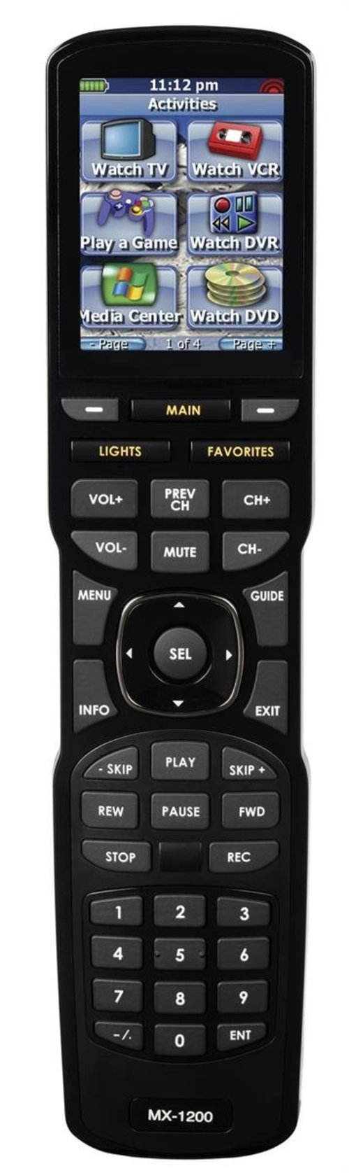View Larger Image of MX-1200i Color Touch Screen IR/RF Remote Control (i-Series)