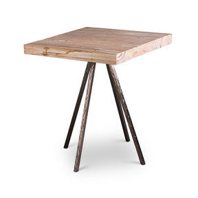 Pietra Square End Table (Natural/Steel)