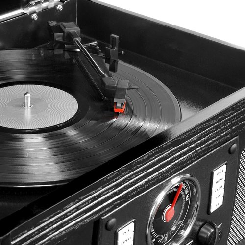 View Larger Image of Navigator 8-in-1 Classic Bluetooth Record Player with USB Encoding and 3-speed Turntable