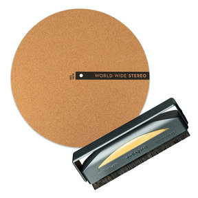 "Record Care Kit with 12"" Modern Series Cork Slipmat and Anti-Static Record Brush"