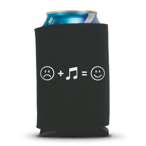 Music Makes Us Happy Beer Can Koozie