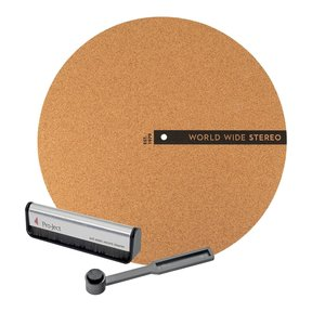 "Record Care Kit with 12"" Modern Series Cork Slipmat, Anti-Static Record Brush, and Stylus Brush"