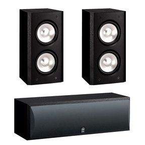 3.0 NS-B310 Bookshelf HD Music Speakers with NS-C210 Center Channel Speaker (Black)