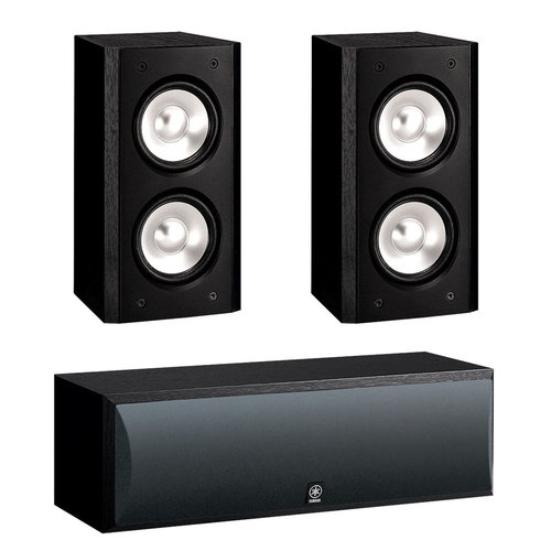 View Larger Image of 3.0 NS-B310 Bookshelf HD Music Speakers with NS-C210 Center Channel Speaker (Black)