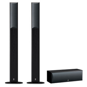 3.0 NS-F210 Floorstanding Speaker Package with NS-C210 Center Channel Speaker (Black)