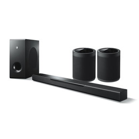 MusicCast BAR 400 Sound Bar with Wireless Subwoofer and WX-021BL MusicCast 20 Wireless Speakers - Pair (Black)