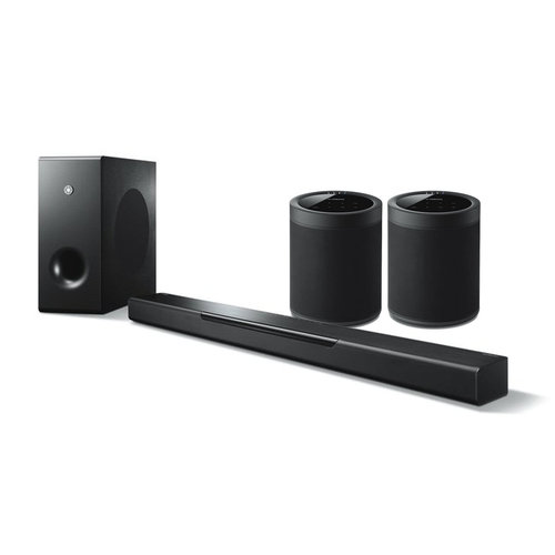 View Larger Image of MusicCast BAR 400 Sound Bar with Wireless Subwoofer and WX-021BL MusicCast 20 Wireless Speakers - Pair (Black)