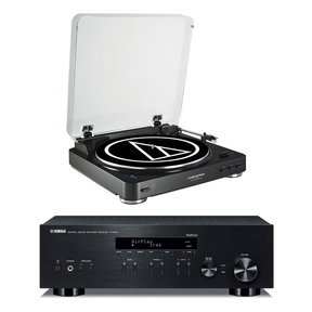 R-N303 Network Stereo Receiver with Audio-Technica AT-LP60 Turntable (Black)