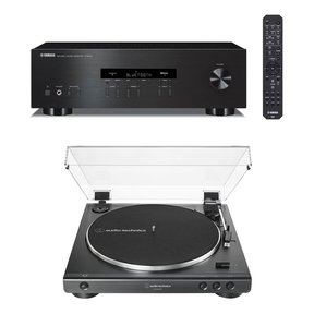 R-S202 Bluetooth Stereo Receiver with Audio-Technica AT-LP60XUSB Automatic Belt-Driven Stereo Turntable