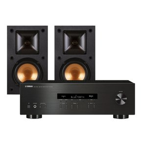 R-S202 Bluetooth Stereo Receiver with Klipsch R-14M Reference Monitor Speaker - Pair (Black)