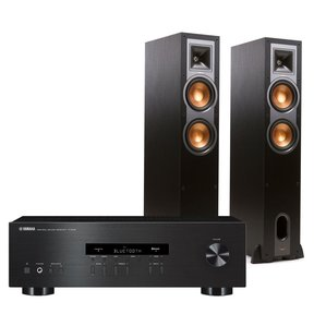 R-S202 Bluetooth Stereo Receiver with Klipsch R-26F Reference Floorstanding Speakers (Black)