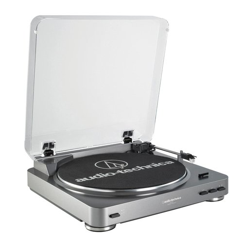 View Larger Image of R-S202 Stereo Receiver and Audio-Technica AT-LP60 Fully Automatic Stereo Turntable (Silver)