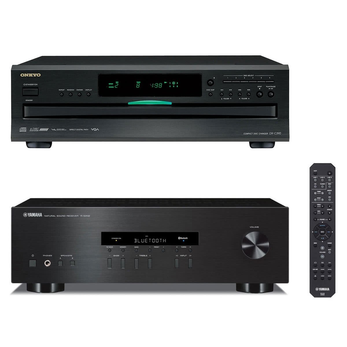 Onkyo DX-C390 CD Changer Receiver with 6-Disc Carousel Changer /& Remote Control