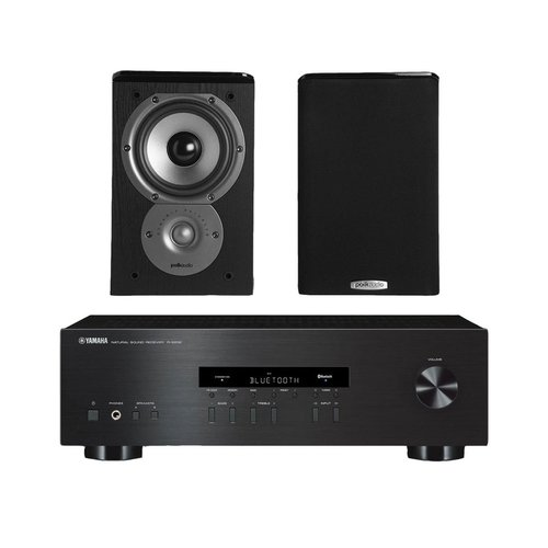 """View Larger Image of R-S202 Stereo Receiver with Bluetooth and Polk TSi100 2-Way Bookshelf Speakers with 5-1/4"""" Driver - Pair (Black)"""