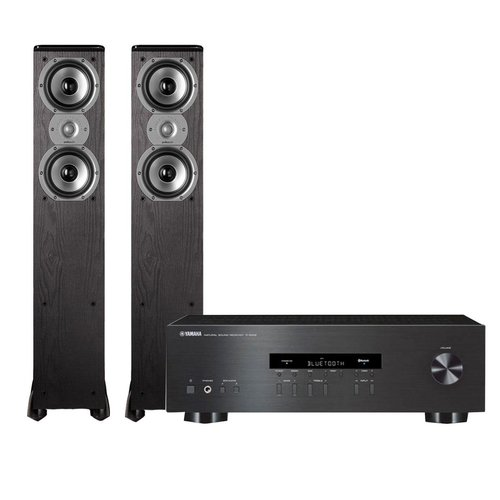 "View Larger Image of R-S202 Stereo Receiver with Bluetooth and Polk TSi300 3-Way Tower Speakers with Two 5-1/4"" Drivers - Pair (Black)"