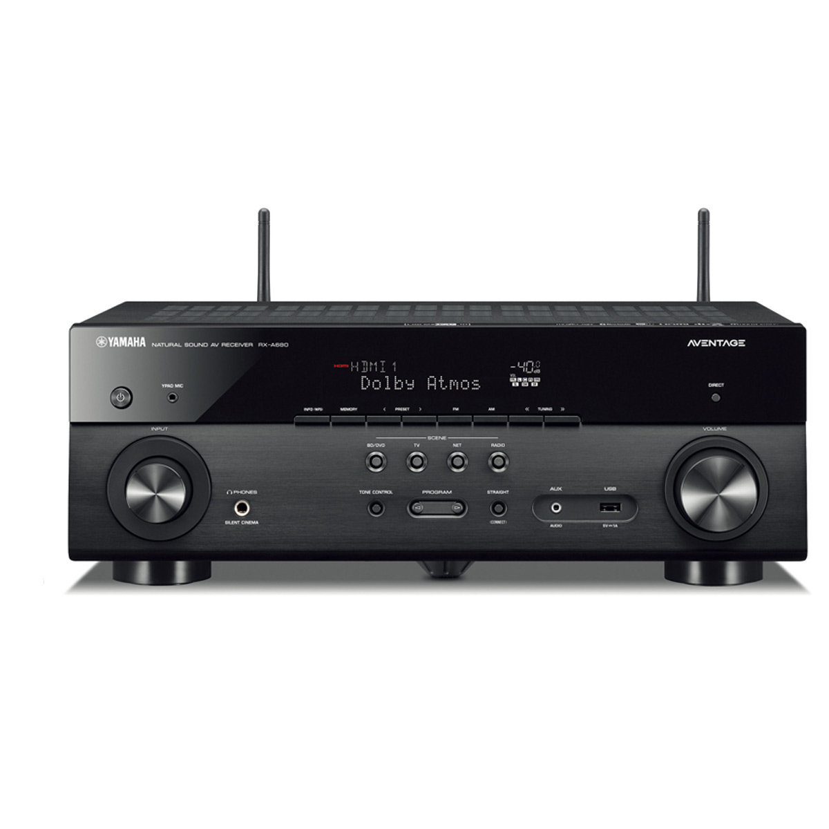 yamaha rx a680 aventage 7 2 channel av receiver with musiccast world wide stereo. Black Bedroom Furniture Sets. Home Design Ideas