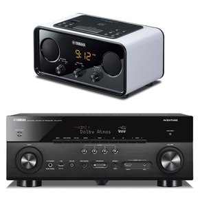 RX-A770 7.2 Channel AVENTAGE Network AV Receiver with TSX-B72 Bluetooth Alarm Clock Radio (White)