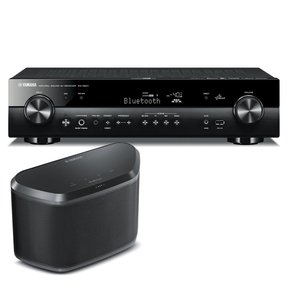 RX-S601 Slimline AV Network Receiver with WX-030 MusicCast Wireless Speaker (Black)