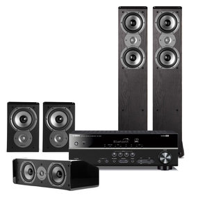 RX-V383 5.1 Channel AV Receiver with Polk 5.0 Home Theater Speaker Package
