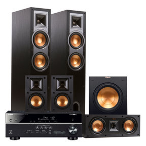 RX-V481 5.1-Channel AV Receiver with Klipsch R-26F 5.1 Reference Floorstanding Speaker Package (Black)