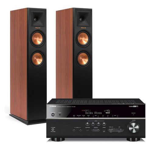 View Larger Image of RX-V481 5.1-Channel AV Receiver with Wi-Fi/Bluetooth/MusicCast and Klipsch RP-250F Reference Premiere Floorstanding Speakers - Pair (Cherry)