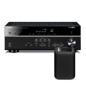 RX-V483 5.1 Channel AV Network Receiver with Wi-Fi and Bluetooth with WX-010 MusicCast Wireless Speaker