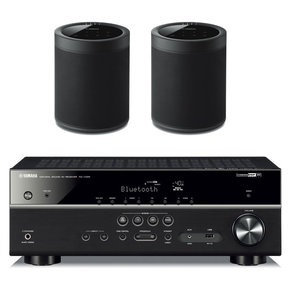 RX-V485BL 5.1 Channel AV Network Receiver with WX-021 MusicCast 20 Wireless Speakers - Pair