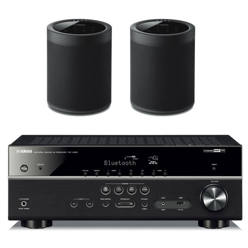View Larger Image of RX-V485BL 5.1 Channel AV Network Receiver with WX-021 MusicCast 20 Wireless Speakers - Pair
