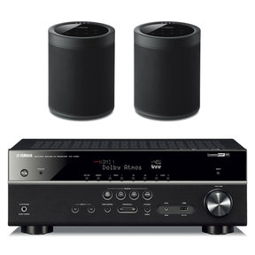 RX-V585BL 7.2 Channel AV Receiver with WX-021 MusicCast 20 Wireless Speakers - Pair
