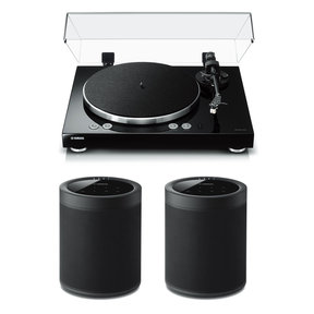 TT-N503BL Turntable with WX-021 MusicCast 20 Wireless Speakers - Pair