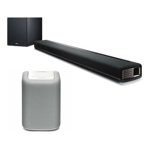 YAS-706 MusicCast Sound Bar with Wireless Subwoofer with WX-010 MusicCast Wireless Speaker