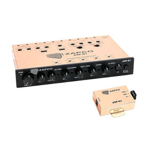 ASP-Q1 6-Channel Analog Dash Mount EQ with 3-Way Crossover